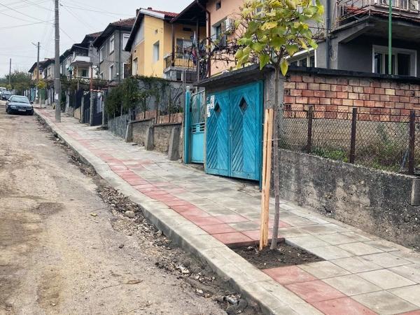 Новият тротоар на улица