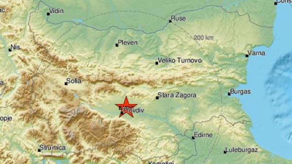 Земетресение в пловдивско. Усетено бе и в Троян